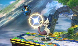 Lanzamiento hacia atrás Mewtwo (3) SSB4 (3DS)