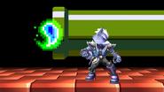 Wolf junto a una bola de fuego verde SSBB