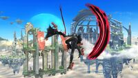 Ataque Aéreo Hacia Adelante (3) Bayonetta SSB Wii U