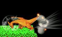 Ataque de recuperacion de borde de Charizard SSB4 (3DS)
