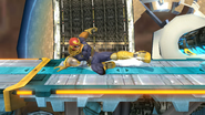 Ataque fuerte inferior de Captain Falcon SSB4 (Wii U)