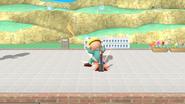 Jeff preparando un cohete botella SSB4 (Wii U)