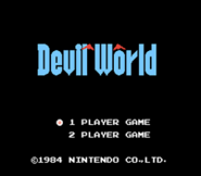Pantalla de titulo de Devil World