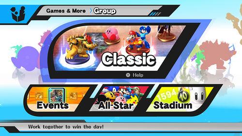 Seleccion de Modo Cooperativo SSB4 (Wii U)