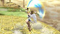 Ataque Smash hacia arriba Pit SSB4 Wii U