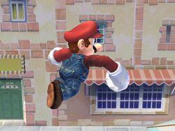 Ataque aéreo hacia adelante (3) Mario SSBB