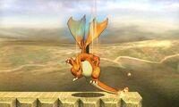 Ataque fuerte superior de Charizard SSB4 (3DS)