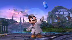 Burla lateral Dr. Mario SSB4 (Wii U)
