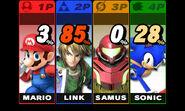 Pantalla inferior del Nintendo 3DS SSB4 (3DS)