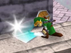 Ataque Smash hacia abajo de Link (2) SSB