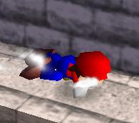 Ataque Smash hacia abajo de Mario (2) SSB
