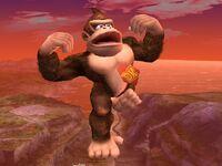 Ataque aéreo inferior Donkey Kong SSBB