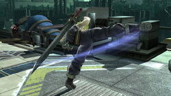 Ataque normal Cloud (2) SSB4 (Wii U)