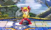 Burla inferior Karateka Mii SSB4 (3DS)