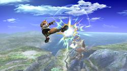Fox Ataque Aereo hacia adelante, primer golpe-SSBB