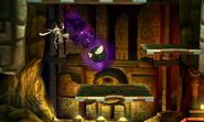 Gastly atacando a Greninja en Smashventura SSB4 (3DS)