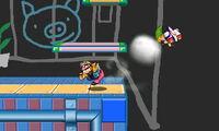 Lanzamiento hacia adelante de Wario (2) SSB4 (3DS)
