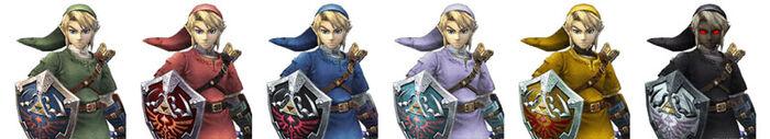 Link (SSBB) Colores