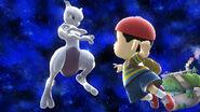 Mewtwo y Ness en Mario Galaxy SSB4 (Wii U)
