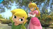 Toon Link y Peach en el Vergel de la Esperanza SSB4 (Wii U)