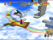 Vista general de Rainbow Ride en Super Mario 64