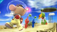 Yoshi junto a Olimar SSB4 (Wii U)