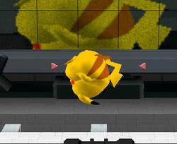 Ataque aéreo normal de Pikachu SSBM
