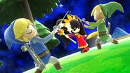 Créditos Modo Senda del guerrero Toon Link SSB4 (Wii U)