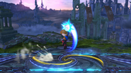 Karateka Mii usando Puño del dragón (3) SSB4 (Wii U)