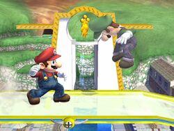 Lanzamiento hacia adelante (2) Mario SSBB