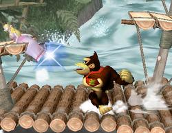 Lanzamiento trasero de Donkey Kong (2) SSBM