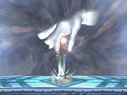 Master Hand Lanzamiento hacia abajo