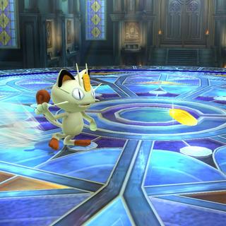 Meowth en <i>Super Smash Bros. para Wii U</i>.
