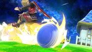 Sonic atacando a Shulk en Mario Galaxy SSBU
