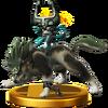 Trofeo de Link Lobo SSB4 (Wii U)