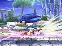 Ataque Smash lateral Sonic SSBB