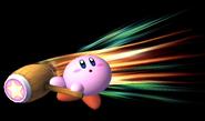 Kirby usando Martillo en el aire SSBB