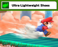 Mario con el Ultra-Lightweight Shoes SSB4