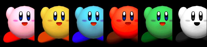 Paleta de colores Kirby SSBM