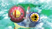 Comparativa del Bumper como objeto con el Bumper del escenario Castillo de Peach (64) - SSB4 (Wii U)