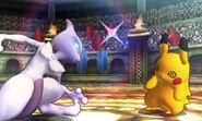 Mewtwo usando Anulación contra Pikachu SSB4 (3DS)