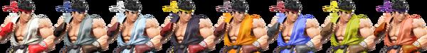 Paleta de colores de Ryu SSB4 (Wii U)