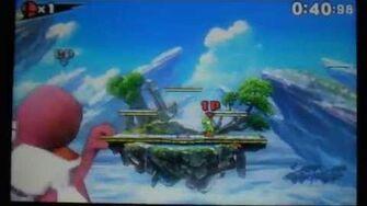 SSB3DS Giant Character Glitch【SSB4】