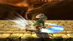 Ataque Smash inferior de Link (1) SSB4 (Wii U)