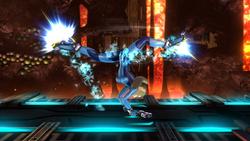 Ataque fuerte superior de Samus Zero (1) SSB4 (Wii U)