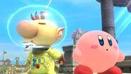 Olimar y Kirby en Altárea SSB4 (Wii U)