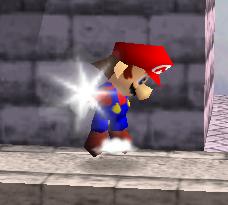Ataque Smash hacia arriba de Mario SSB
