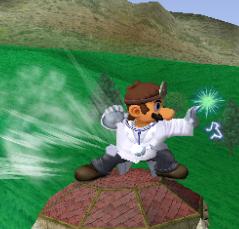 Ataque Smash lateral de Dr. Mario SSBM