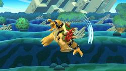 Ataque aéreo hacia adelante de Bowser SSB4 (Wii U)