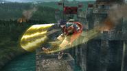 Ataque aéreo trasero de Ike SSB4 (Wii U)